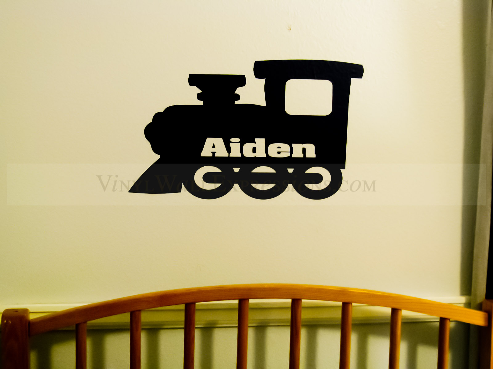 Train Kids Vinyl Wall Decor-Custom Name•Vinyl Wall Expressions
