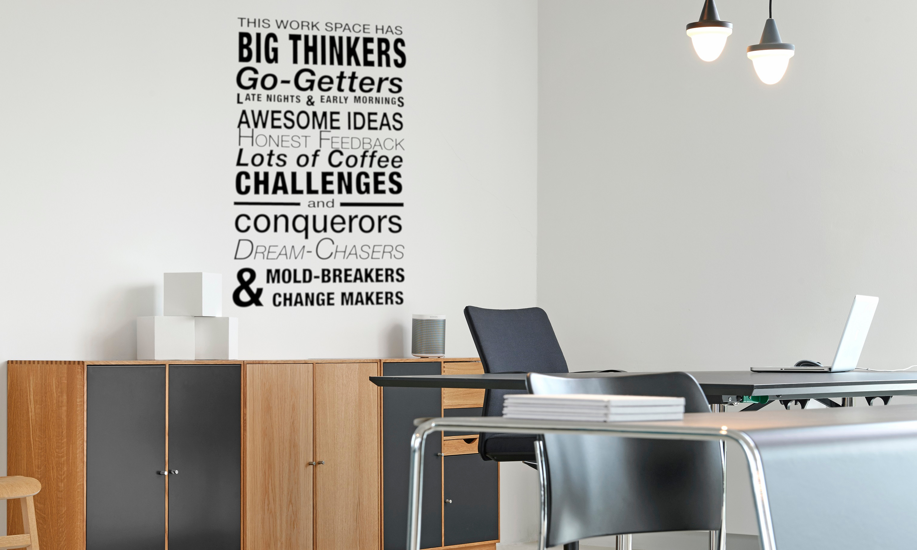 This Work Space Has Big Thinkers Wall Decal Office Wall Quote Business  Vinyl Lettering Custom Color Choice  O 102u2022Vinyl Wall Expressions