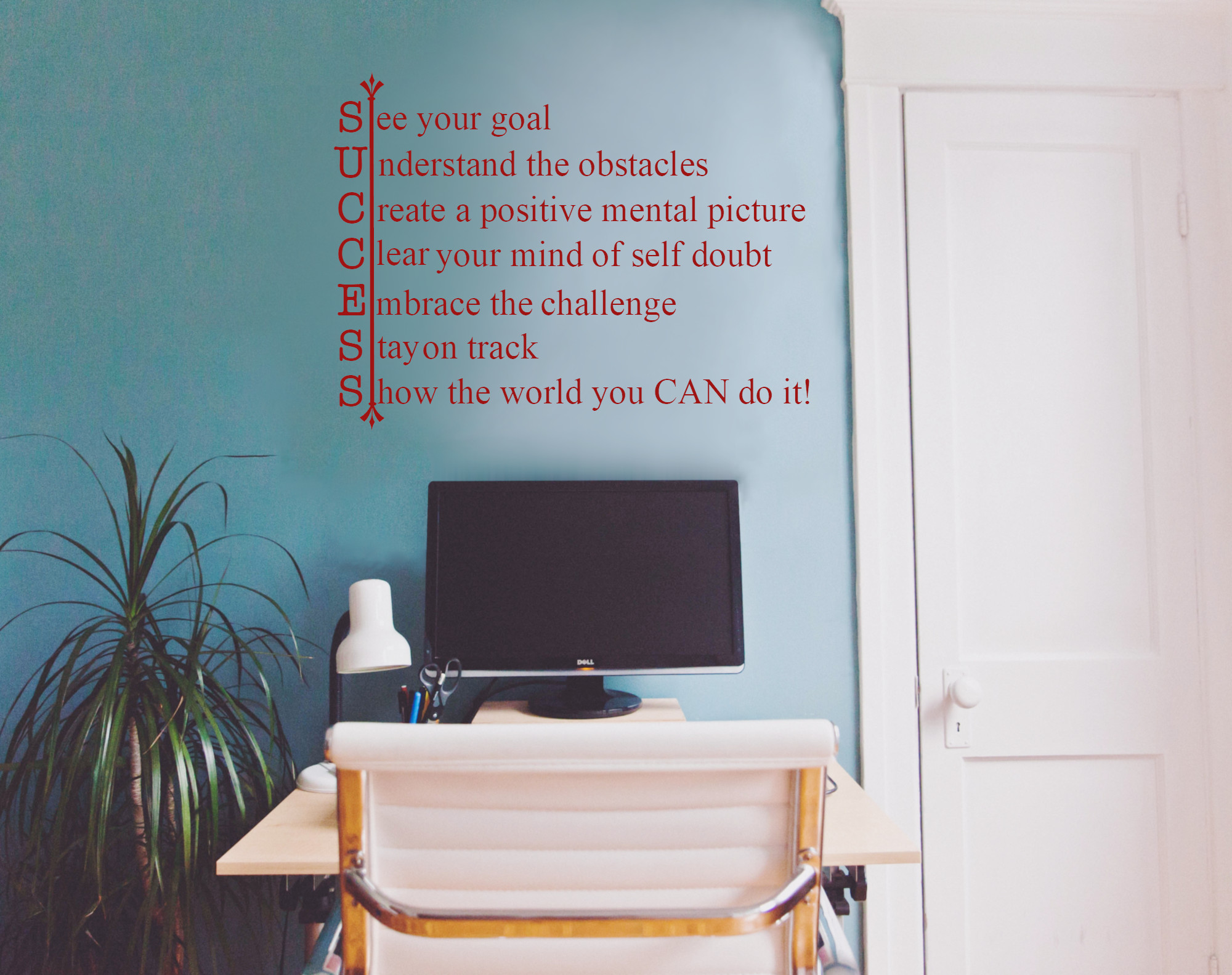 SUCCESS Motivational Classroom School Office Wall Decal Wall Quote Vinyl Wall  Lettering  M 102