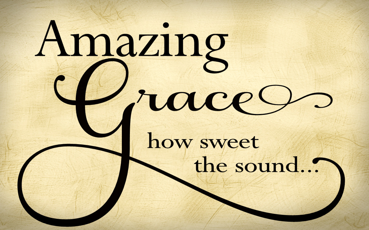 Amazing Grace Religious Wall Quote Wall Decal Vinyl Lettering R106 ...